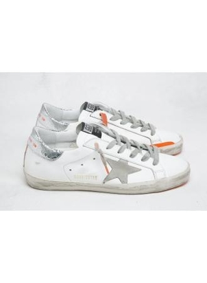 Golden Goose Deluxe Brand Superstars with Orange Details Shoes