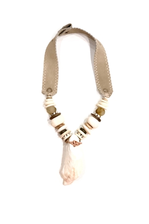 Twine + Twig Oyster Pendant Necklace | Low Country Jewelry